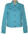 Ladies Classic Stretch Jacket Straight Bottom with Metal Buttons - Back Logo