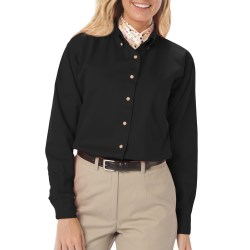 Ladies Long Sleeve Twill Shirt  - with Left Chest logo and name