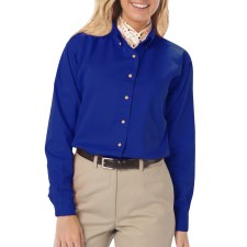 Ladies Long Sleeve Twill Shirt with Left Chest logo, Back logo and Name