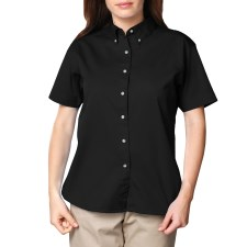 Ladies Short Sleeve Twill Shirt - with Left Chest logo and name