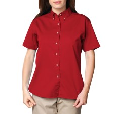 Ladies Short Sleeve Twill Shirt with Back Logo and Name