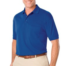 Men's Polo Shirt with Pocket with Left Chest Logo and Name