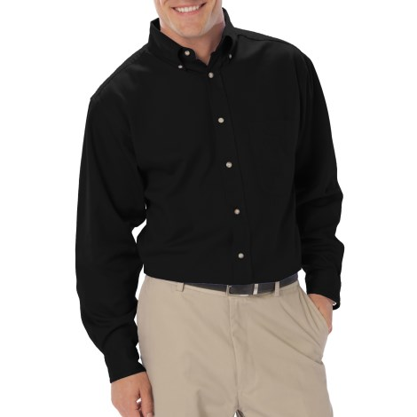 Men's Long Sleeve Twill Shirt - with Left Chest Logo and Name