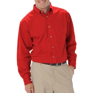 Men's Long Sleeve Twill Shirt with Back Logo and Name