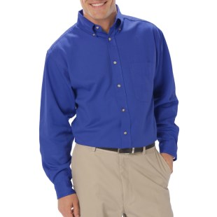 Men's Long Sleeve Twill Shirt with Left Chest Logo, Back Logo and Name