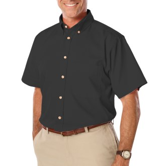 Men's Short Sleeve Twill Shirt - with Left Chest Logo and Name